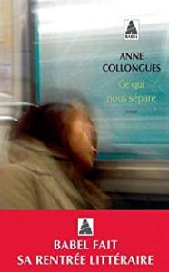Anne Coulongues  Ce qui nous sépare